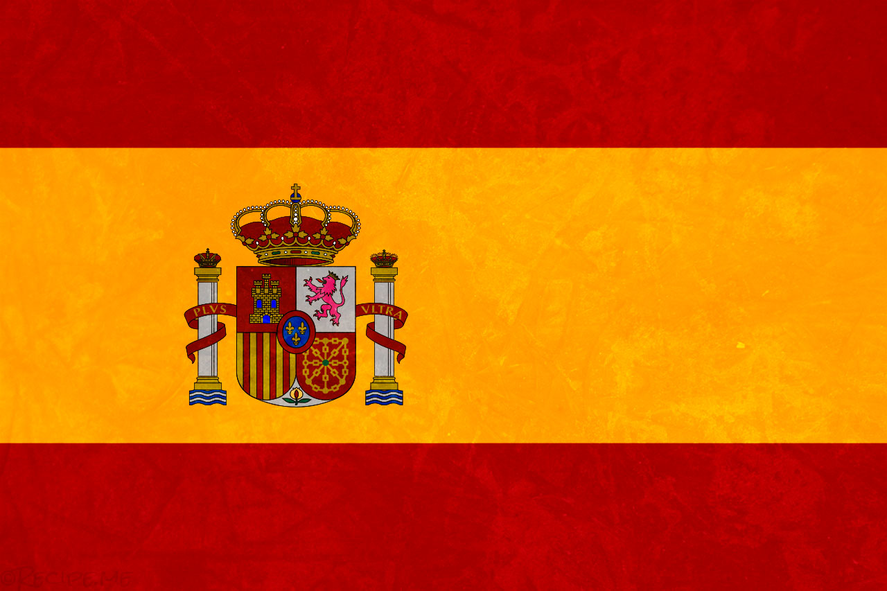 Spanish Flag with Texture