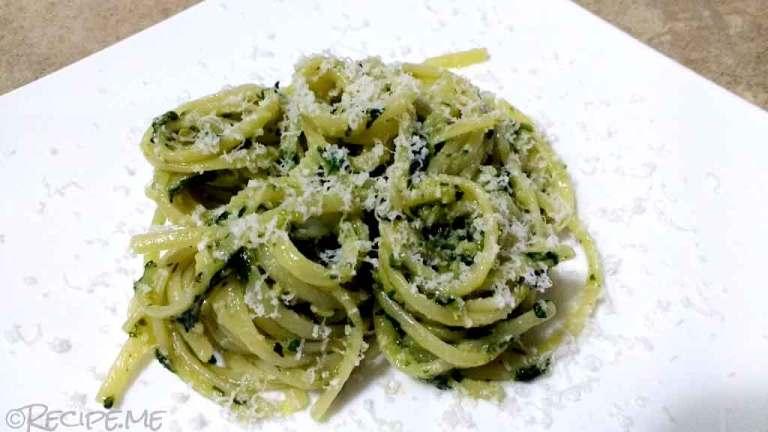 Basil Pesto (Pesto Genovese) - Step 4 - Basil Pesto in Pasta