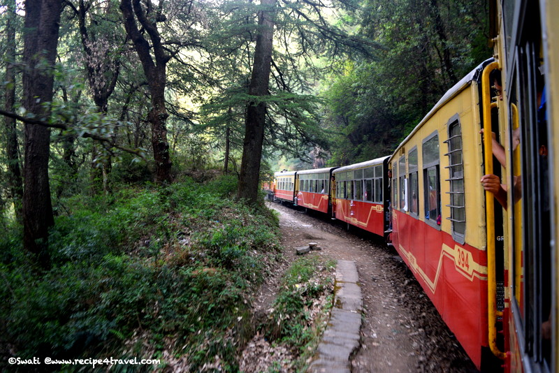 The picturesque route on the toy train from Kalka to Shimla