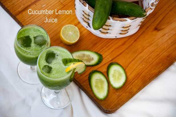 Cucumber lemon juice drink