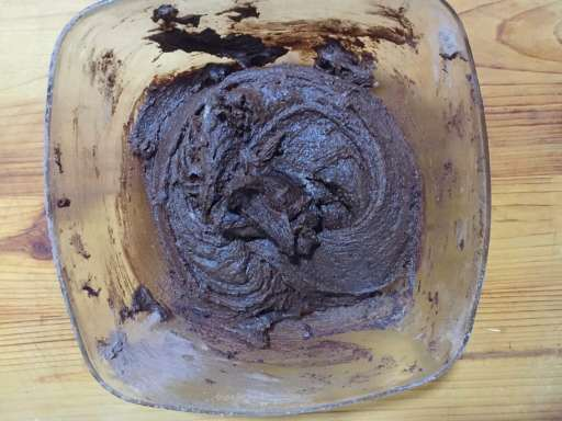 the double chocolate chip cookies dough is ready.