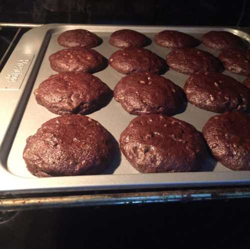 Double chocolate chip cookies are set now.
