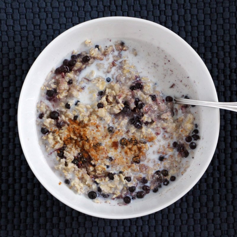 Five minute Fancy Blueberry Vanilla Oatmeal