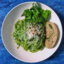 Creamy Spinach Pesto- nuts and chicken optional