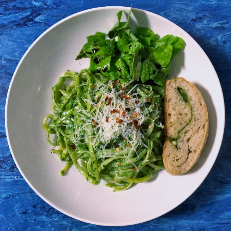 Creamy Spinach Pesto Pasta