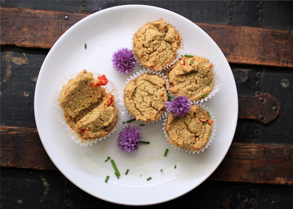 overhead shot of Thai Coconut Curry Chicken Muffins- Gluten and Dairy Free