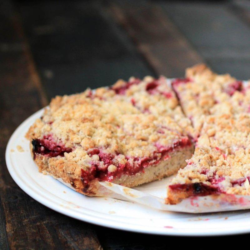 Fresh Raspberry Crumb Cakes