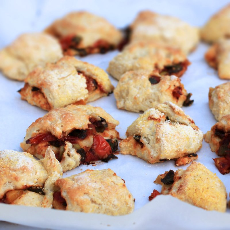 charred tomato and poblano biscuits