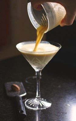 Ginger Eggnog Martini: or Why You Should Infuse Your Own Liquor