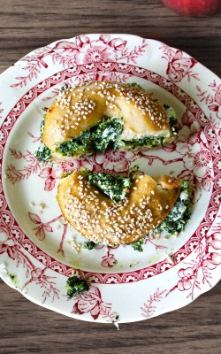 Sourdough Bagels with Kale Cream Cheese or: How to Not Write A Novel in 30 Days