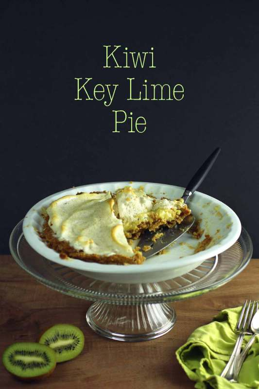kiwi key lime pie with a gluten-free graham cracker crust