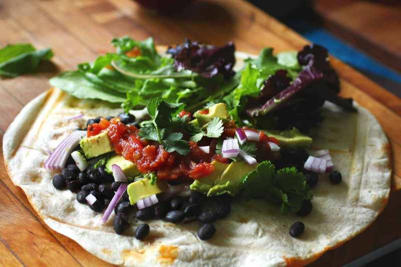 Chicken Chorizo and Black Bean Waffle Tacos