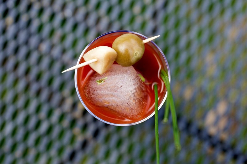Spicy Siracha Bloody Mary Mix with Fresh Herbs