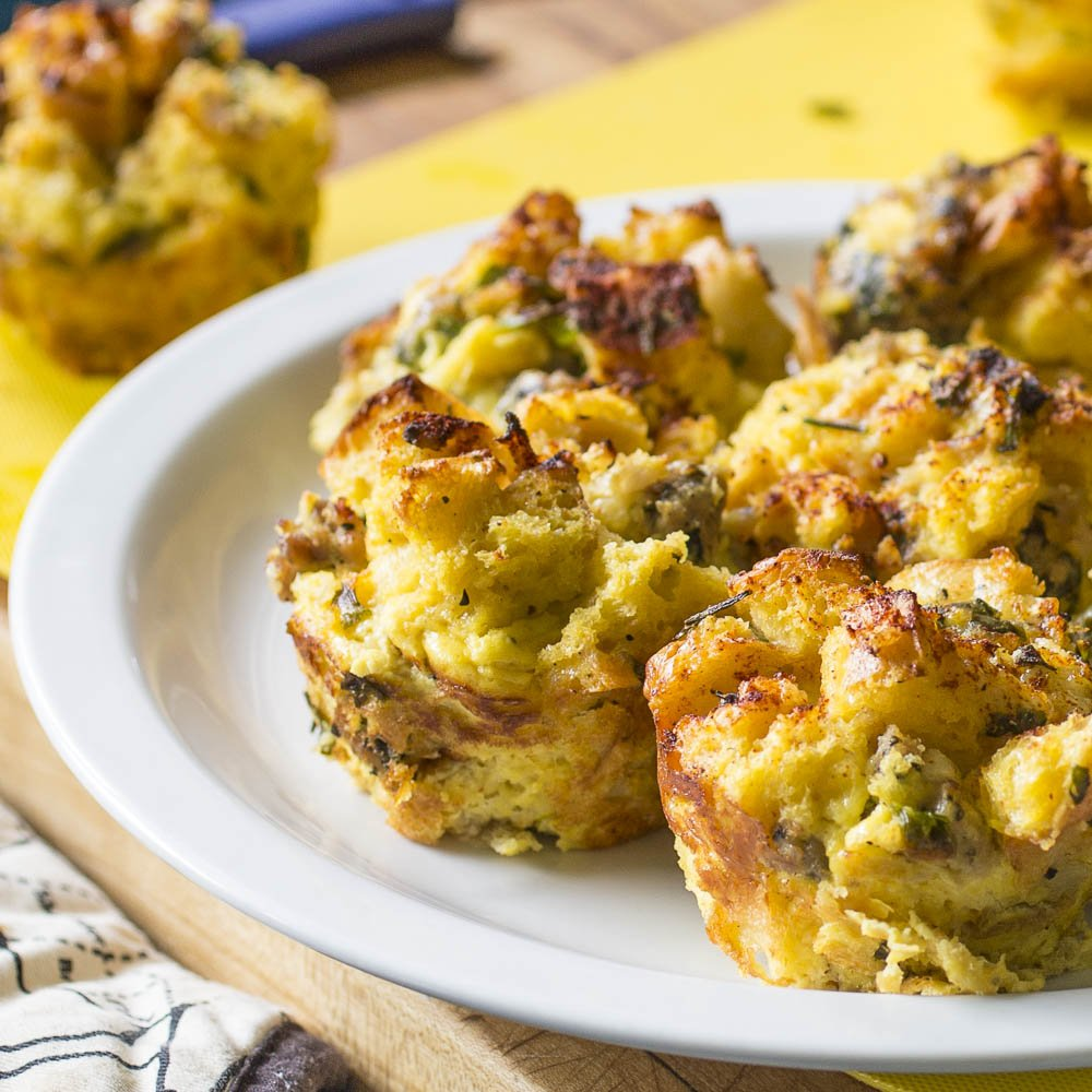 Savory French Toast Muffins