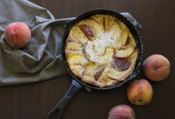 Cast Iron Peach Clafoutis
