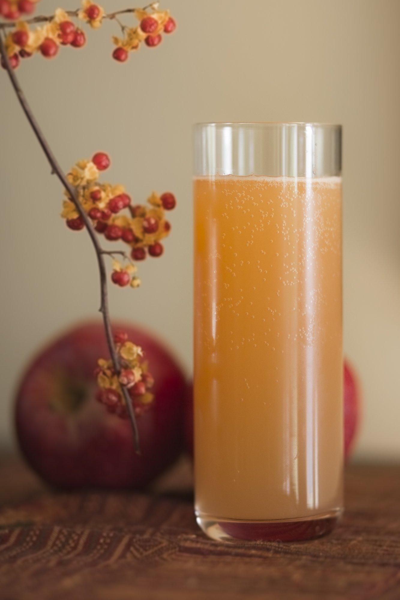 hard ginger beer and apple cider shandy