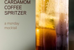 citrus cardamom coffee spritzer AKA monday mocktail