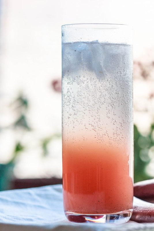 The Piquant Sour: a Rhubarb Gin Cocktail with black pepper and grapefruit