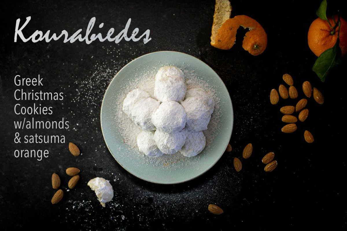 Kourabiedes: Greek Christmas Cookies w/satsuma and almond