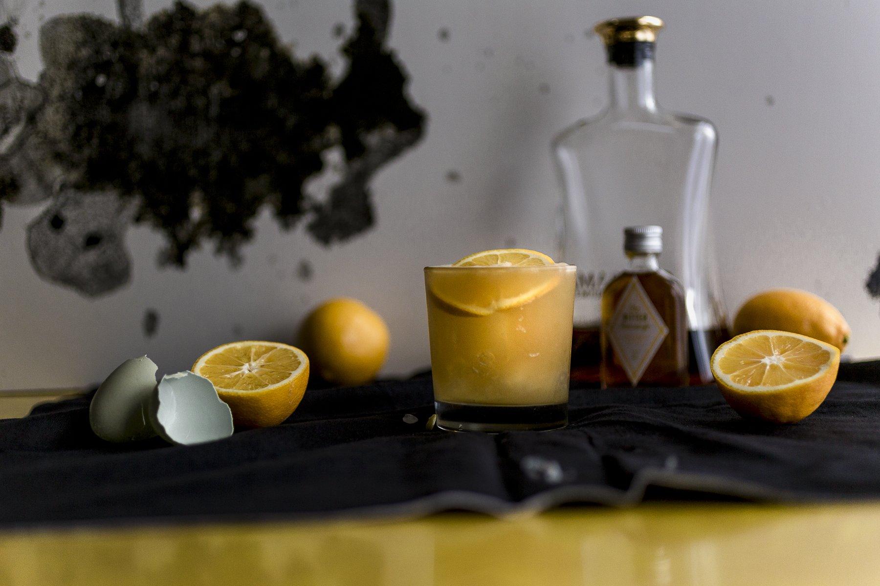 not your mommas meyer lemon amaretto sour