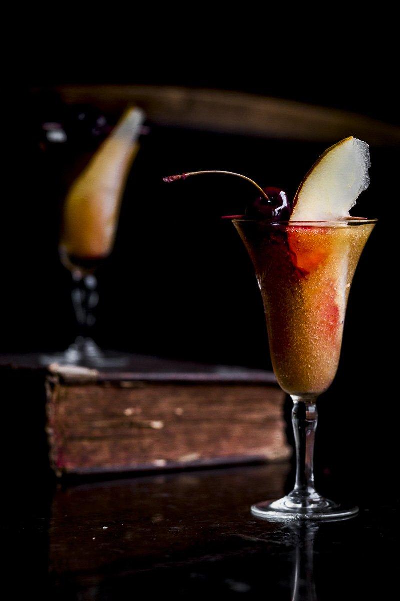 Closeups Pear Pomegranate Amaretto Cocktail