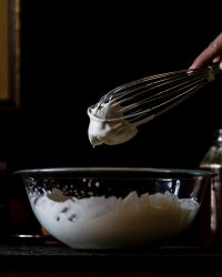 honey whipped cream for cider poached pears