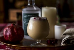 EggNog Fizz: a lighter brighter nog cocktail