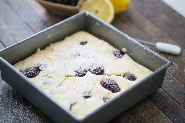Blackberry Lemon Pudding Cake recipe - from RecipeGirl.com