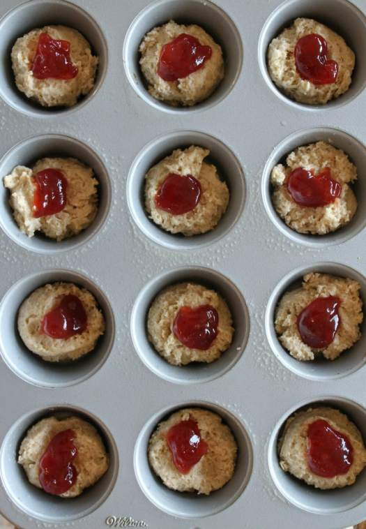 Making Low Fat Strawberry Cinnamon Muffins