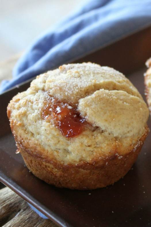 Low Fat Strawberry Cinnamon Muffins
