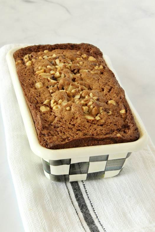 Banana Nut Bread in a loaf pan