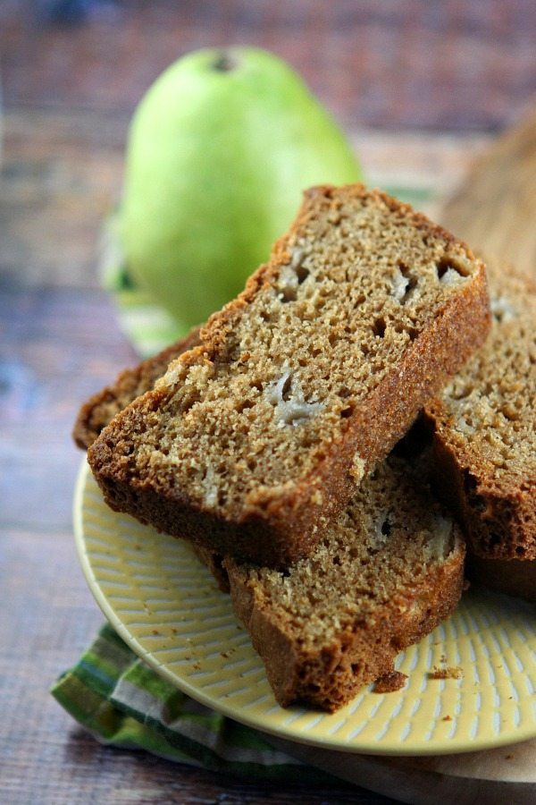 Pear Bread #recipe - RecipeGirl.com
