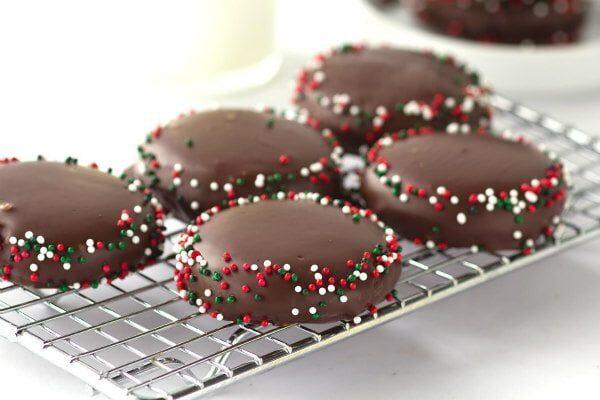 Chocolate Mint Wafers cookies recipe - from RecipeGirl.com