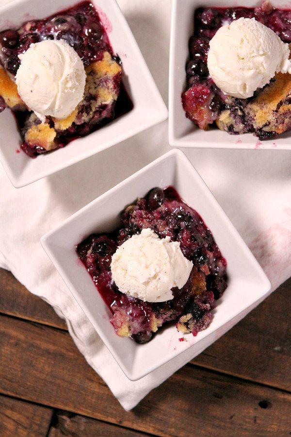 Fresh Blueberry Cobbler Recipe - RecipeGirl.com