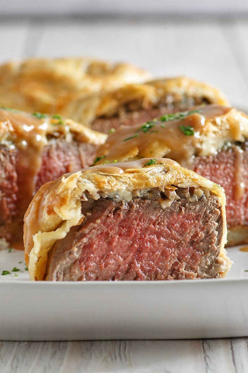 Beef Wellingtons with Gorgonzola and Madeira Wine Sauce ...