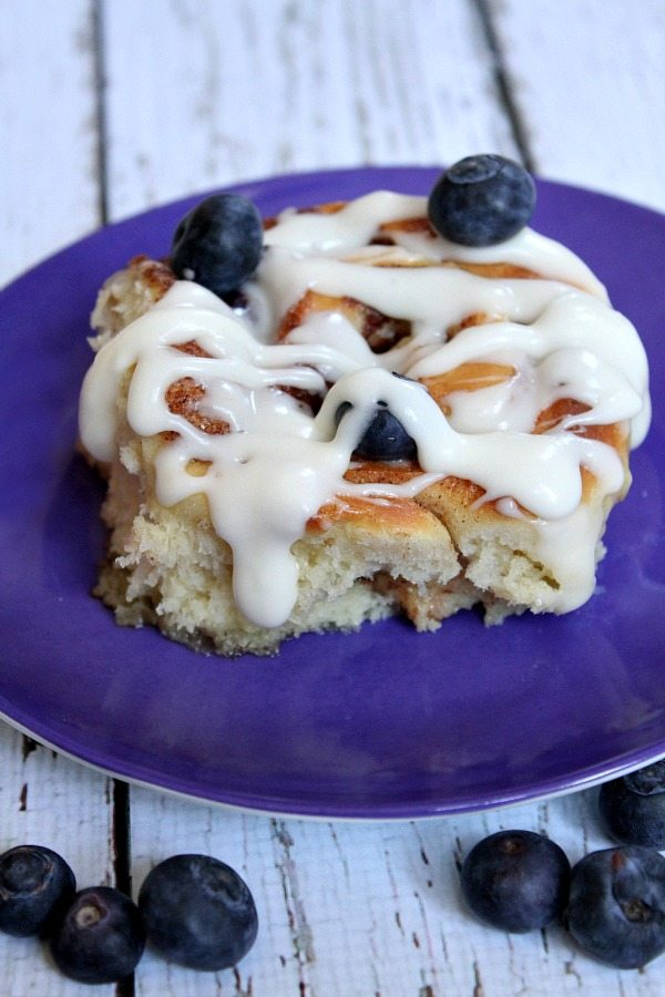 Blueberry Cinnamon Rolls #recipe