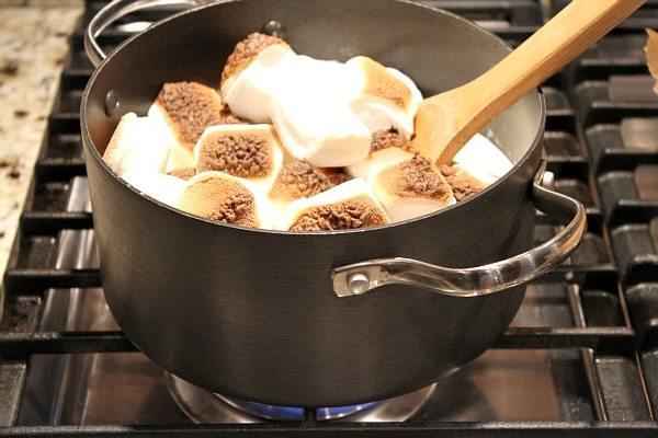Toasted Marshmallow Brownie Ice Cream 2