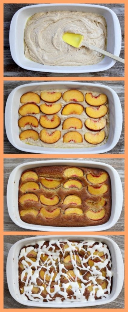 Fresh Peach Cake Assembly