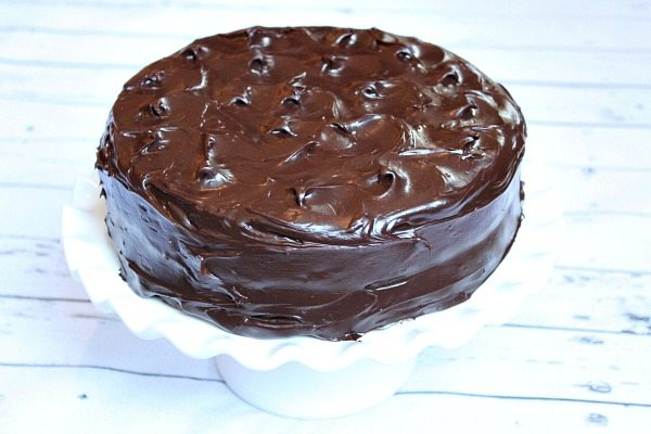 Yellow Cake with Chocolate Frosting