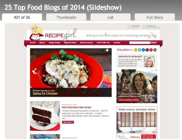 The Daily Meal Top 25 Blogs