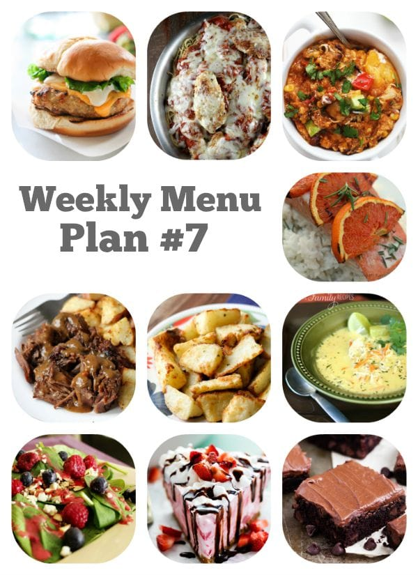 Weekly Menu Plan 7