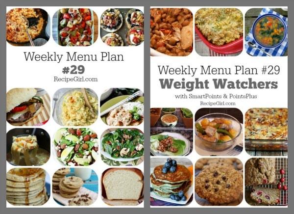 Weekly Menu Plans 29