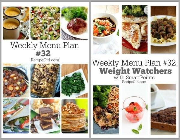 Weekly Menu Plans 32