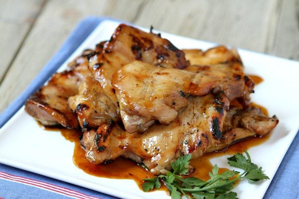 Plum Glazed Grilled Chicken Thighs