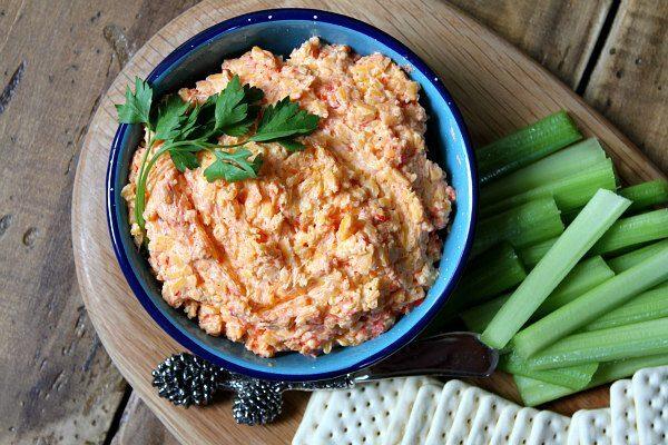 Southern Pimento Cheese spread - recipe from RecipeGirl.com