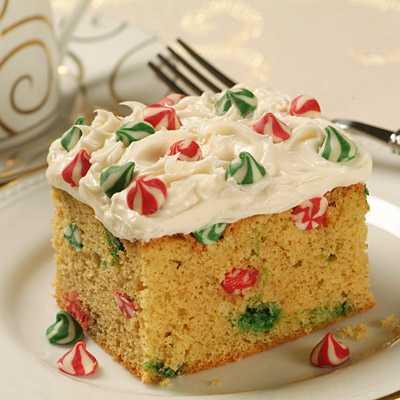 Festive Eggnog Cake recipe