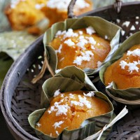 Steamed Pumpkin Cake in the Style of Thai Khanom Tan