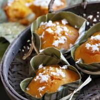 Steamed Pumpkin Cake in the Style of Thai Khanom Tan