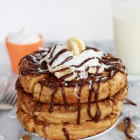 Caramelized Coconut Banana Bread Waffle French Toast