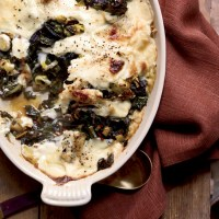 Swiss Chard and Leek Gratin